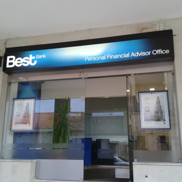 Letreiros Neolux - Best Bank