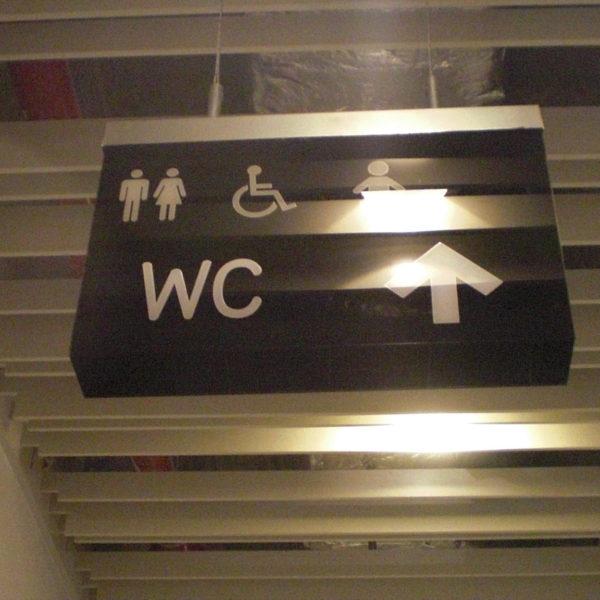 Sinalética Direcional Neolux - WC